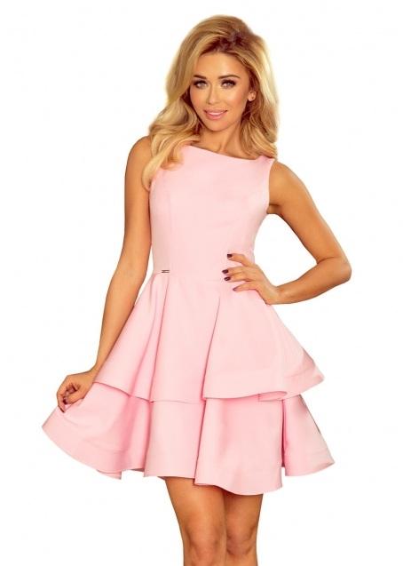 ružové krátke spoločenské šaty