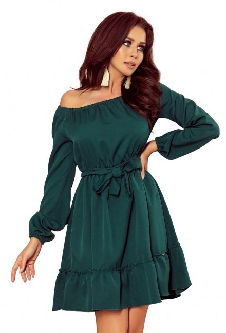 zelené krátke tea šaty